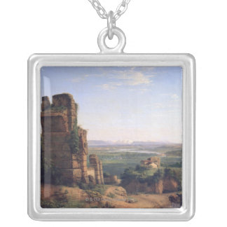 Roman Aqueducts Silver Plated Necklace