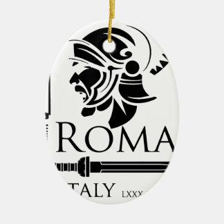 Roman Army - Legionary with Gladio Ceramic Oval Decoration
