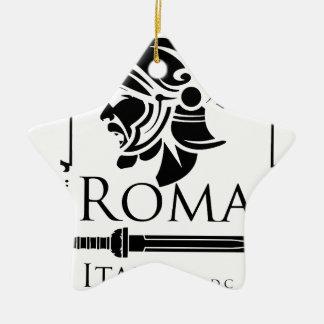 Roman Army - Legionary with Gladio Ceramic Star Decoration