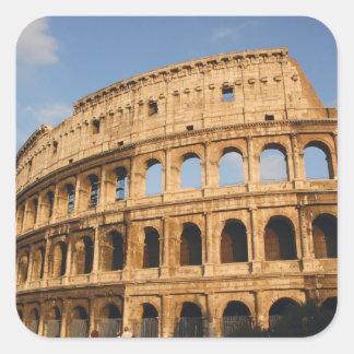 Roman Art. The Colosseum or Flavian 3 Square Sticker