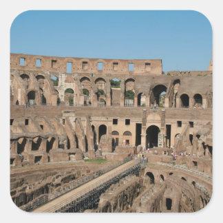 Roman Art. The Colosseum or Flavian 6 Square Sticker