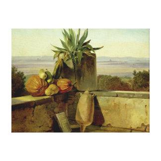 Roman Balcony, 1834 Canvas Print