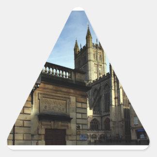 Roman Bath, England Triangle Sticker