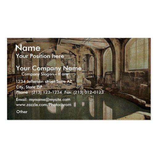 Roman Baths and Abbey, Circular Bath, Bath, Englan Business Cards