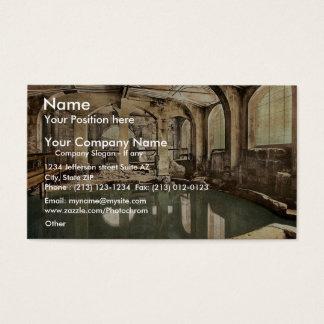 Roman Baths and Abbey, Circular Bath, Bath, Englan Business Card