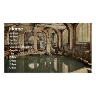 Roman Baths and Abbey, Circular Bath, Bath, Englan Business Card Template