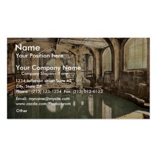 Roman Baths and Abbey, Circular Bath, Bath, Englan Pack Of Standard Business Cards