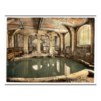 Roman Baths and Abbey, Circular Bath, Bath, Englan Postcard