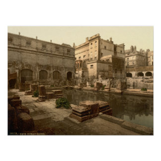 Roman Baths and Abbey I, Bath, Somerset, England Poster