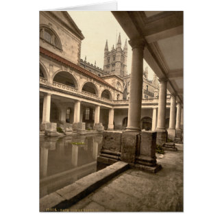 Roman Baths and Abbey III, Bath, Somerset, England Card