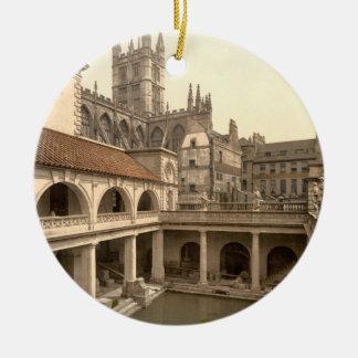 Roman Baths and Abbey, IV, Bath, England Christmas Ornament