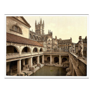 Roman Baths and Abbey, IV, Bath, England classic P Postcard