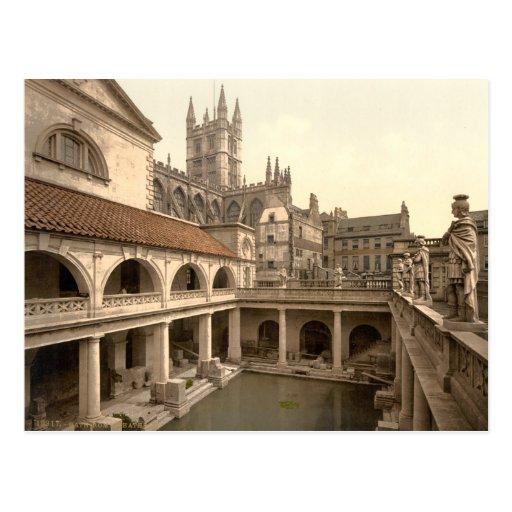 Roman Baths and Abbey IV, Bath, Somerset, England Postcards