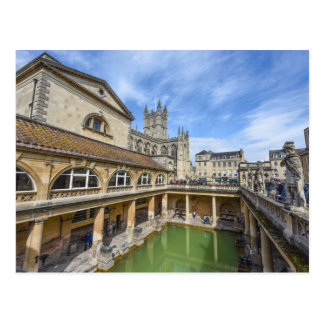 Roman Baths in Bath England Postcard