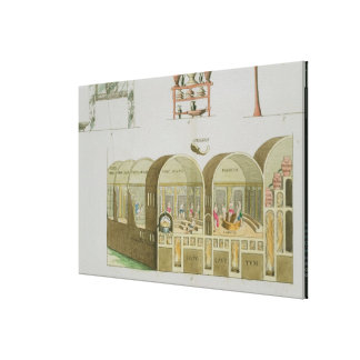 Roman Baths, plate from 'The History of the Nation Canvas Print