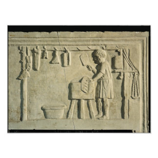 Roman Butcher's, relief Print