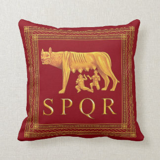 Roman Capitoline Wolf Throw Pillow