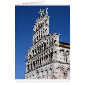 Roman Catholic basilica church in Lucca Greeting Card
