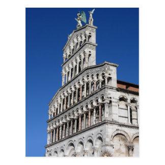 Roman Catholic basilica church in Lucca Postcard