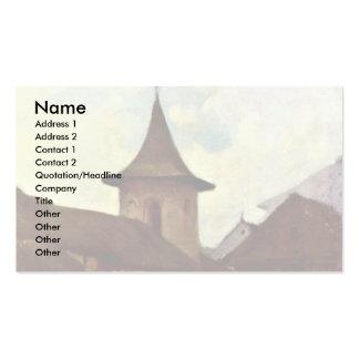 Roman Catholic Church In Cimpulung By Grigorescu N Business Card Template