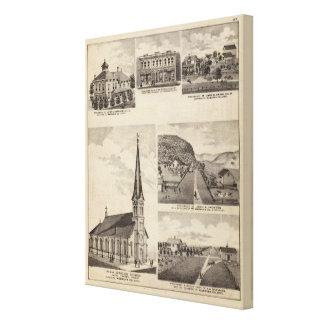 Roman Catholic Church, Residences, Minnesota Canvas Print