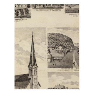 Roman Catholic Church, Residences, Minnesota Postcard