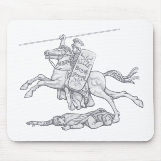 Roman Cavalry officer. Mousepad.