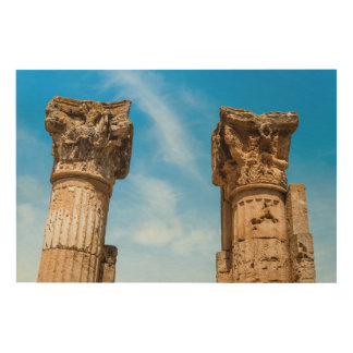 Roman City Ruins Wood Wall Art