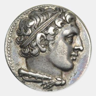 Roman Coin Classic Round Sticker