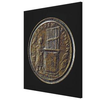 Roman coin depicting an Organ Gallery Wrap Canvas
