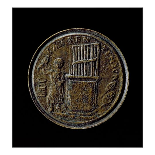 Roman coin depicting an Organ Poster
