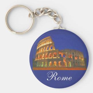 Roman Coliseum Basic Round Button Key Ring