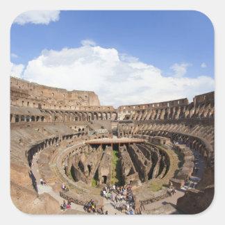 Roman Coliseum, fish eye view Square Sticker