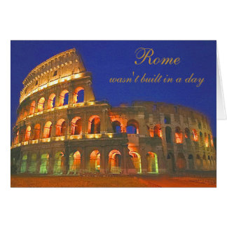 Roman Coliseum Greeting Card
