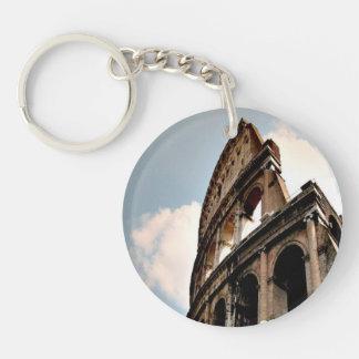 Roman Coliseum Single-Sided Round Acrylic Key Ring