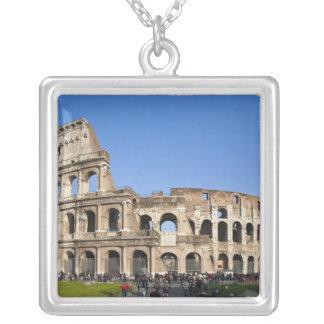 Roman Coliseum Silver Plated Necklace