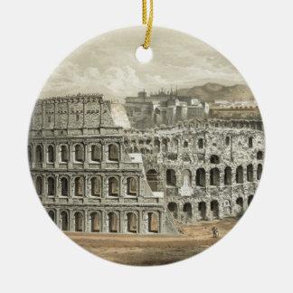 Roman Coliseum Vintage Art Christmas Ornament