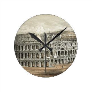 Roman Coliseum Vintage Art Clock