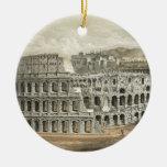 Roman Coliseum Vintage Art Round Ceramic Decoration