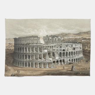 Roman Coliseum Vintage Art Tea Towel