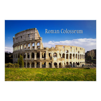 Roman Colosseum Amphitheater Personalized Poster