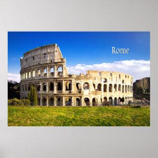 Roman Colosseum Amphitheater Personalized Poster