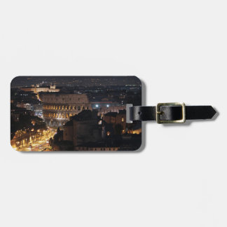 Roman Colosseum at night Luggage Tags