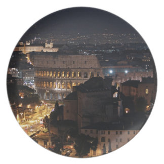 Roman Colosseum at night Party Plates