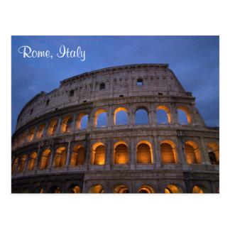 Roman Colosseum at Night Postcard