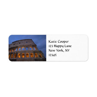 Roman Colosseum at Night Return Address Label