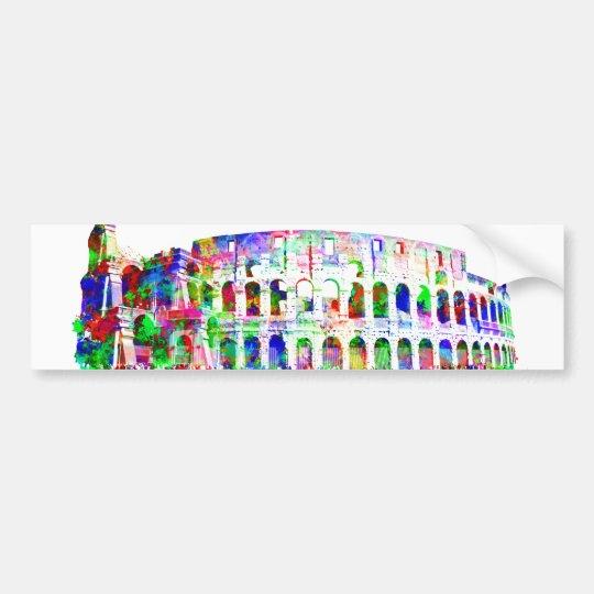 Roman Colosseum colourful architectural products Bumper Sticker