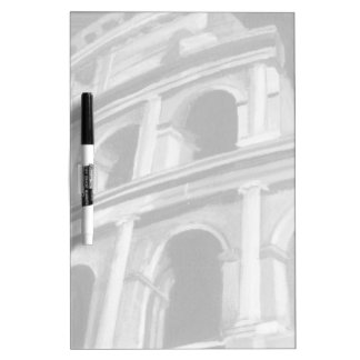 Roman Colosseum with Architectural Drawings Dry-Erase Board