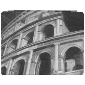 Roman Colosseum with Architectural Drawings iPad Cover
