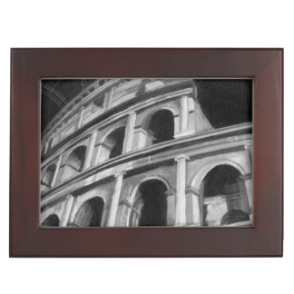 Roman Colosseum with Architectural Drawings Keepsake Box